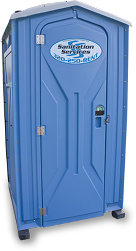 Isolated Porta Potty